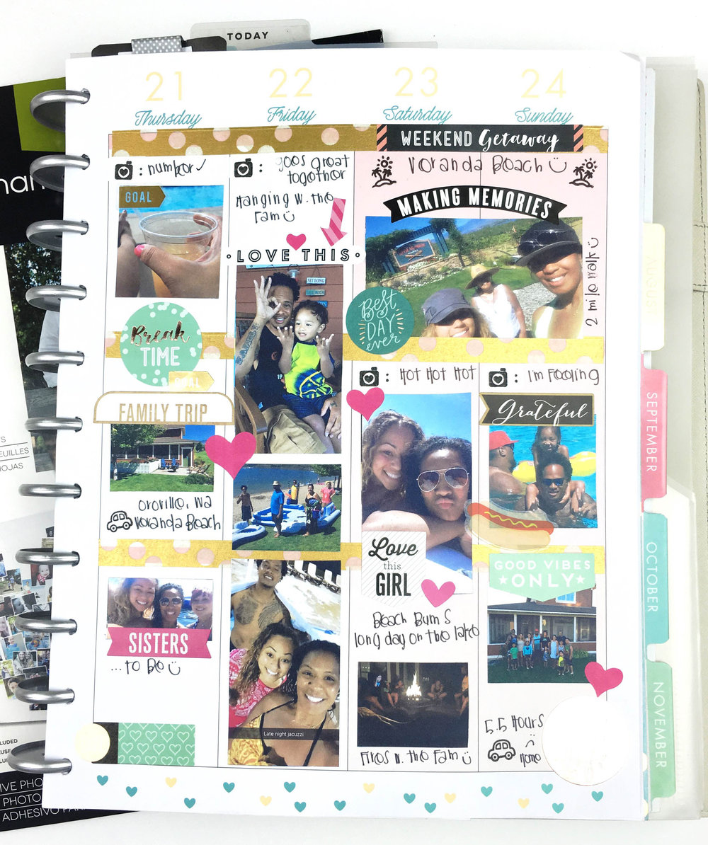 summer memory planning in The BIG Happy Planner™ of mambi Design Team member Chantal Stevens | me & my BIG ideas