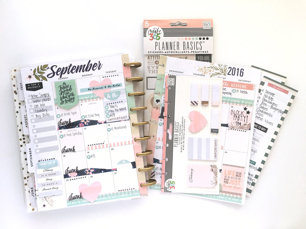 September monthly in the 'Botanical Garden' Happy Planner™ of mambi Design Team member Mary-Ann Maldonado | me & my BIG ideas