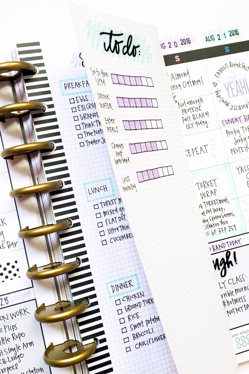 a week in The Happy Planner™ Fitness Planner of mambi Design Team member April Orr | me & my BIG ideas
