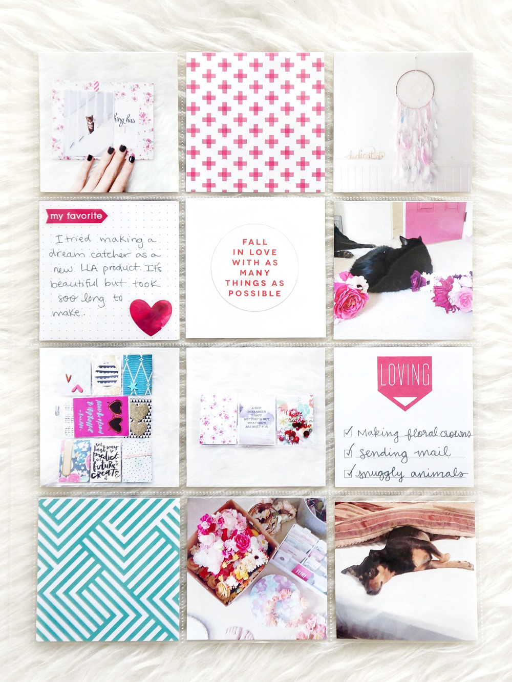 POCKET PAGES™ w/ pops of pink by mambi Design Team member Laura Rahel Crosby | me & my BIG ideas