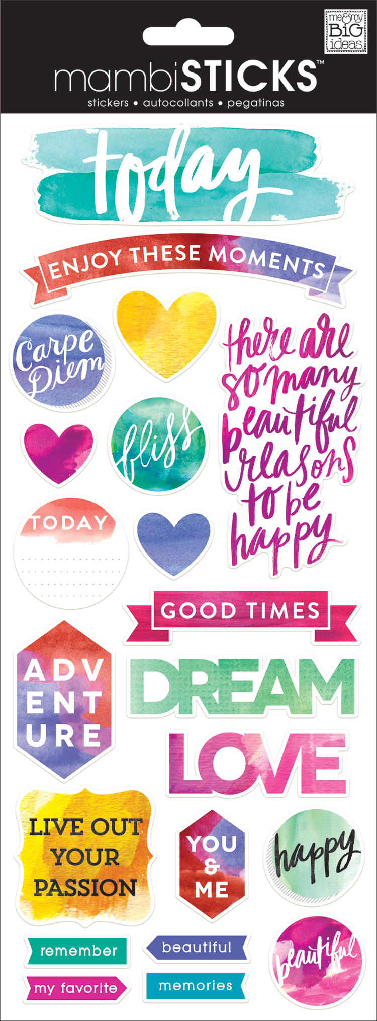 'Today' Watercolor mambiSTICKS clear stickers | me & my BIG ideas.jpg
