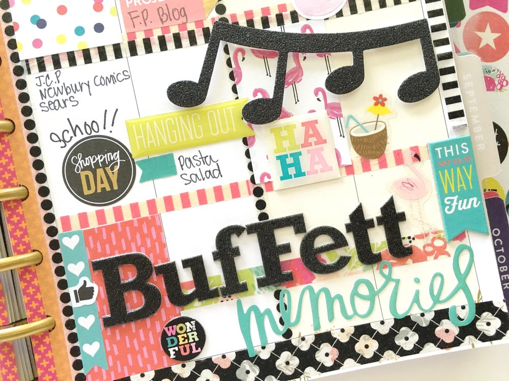 Jimmy Buffet in the 'Botanical Garden' Happy Planner™ of mambi Design Team member Mary-Ann Maldonado | me & my BIG ideas