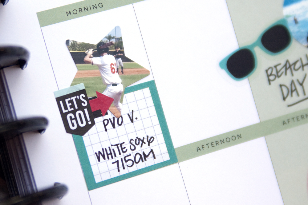 a memory planning layout in the 'Gold Dots' Happy Planner™ of mambi Design Team member Jennie McGarvey | me & my BIG ideas