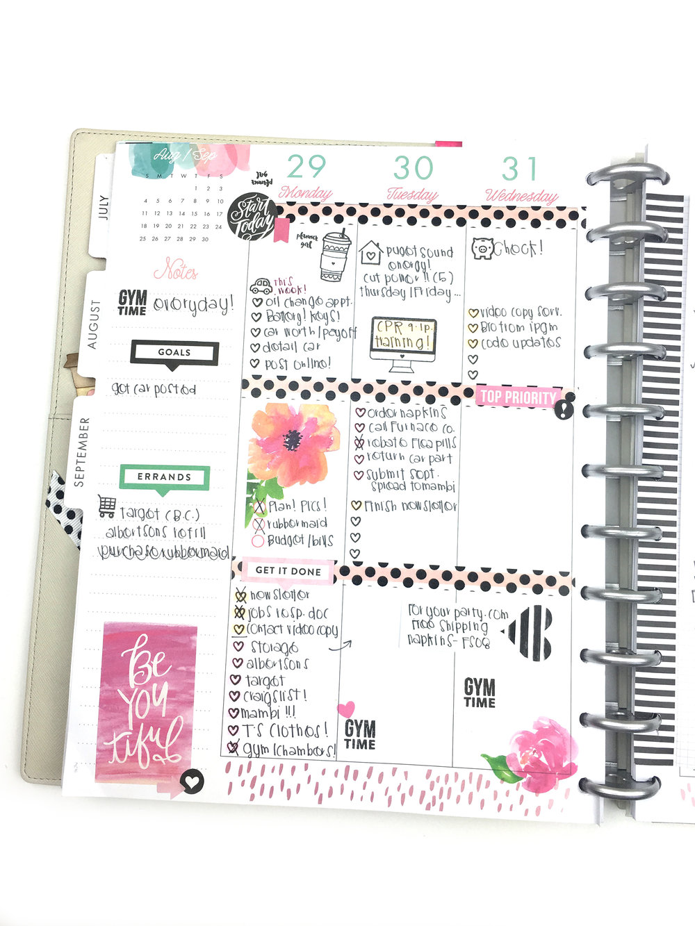 September planning in the BIG 'Stay Golden' Happy Planner™ of mambi Design Team member Chantal Stevens | me & my BIG ideas