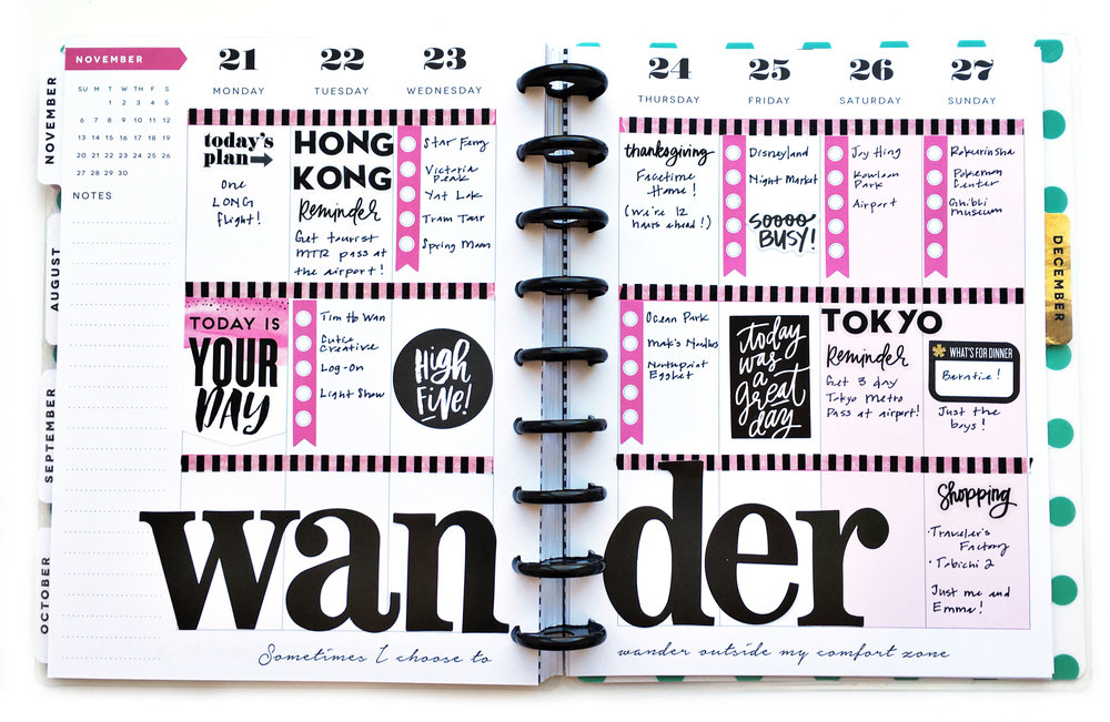 travel planning in The Happy Planner™ of mambi Design Team member Theresa Doan | me & my BIG ideas