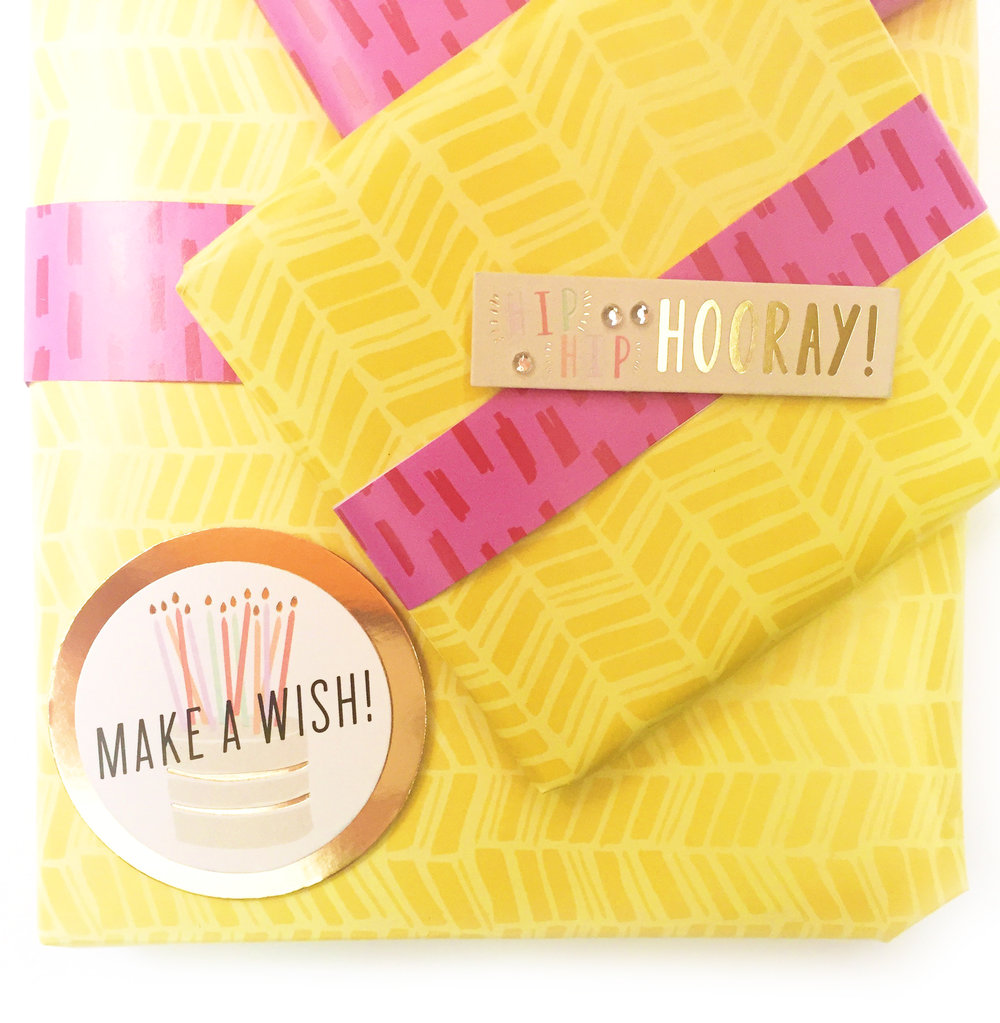an Expandable Paper Pad to wrap birthday gifts by mambi Design Team member Casie Gutierrez | me & my BIG ideas