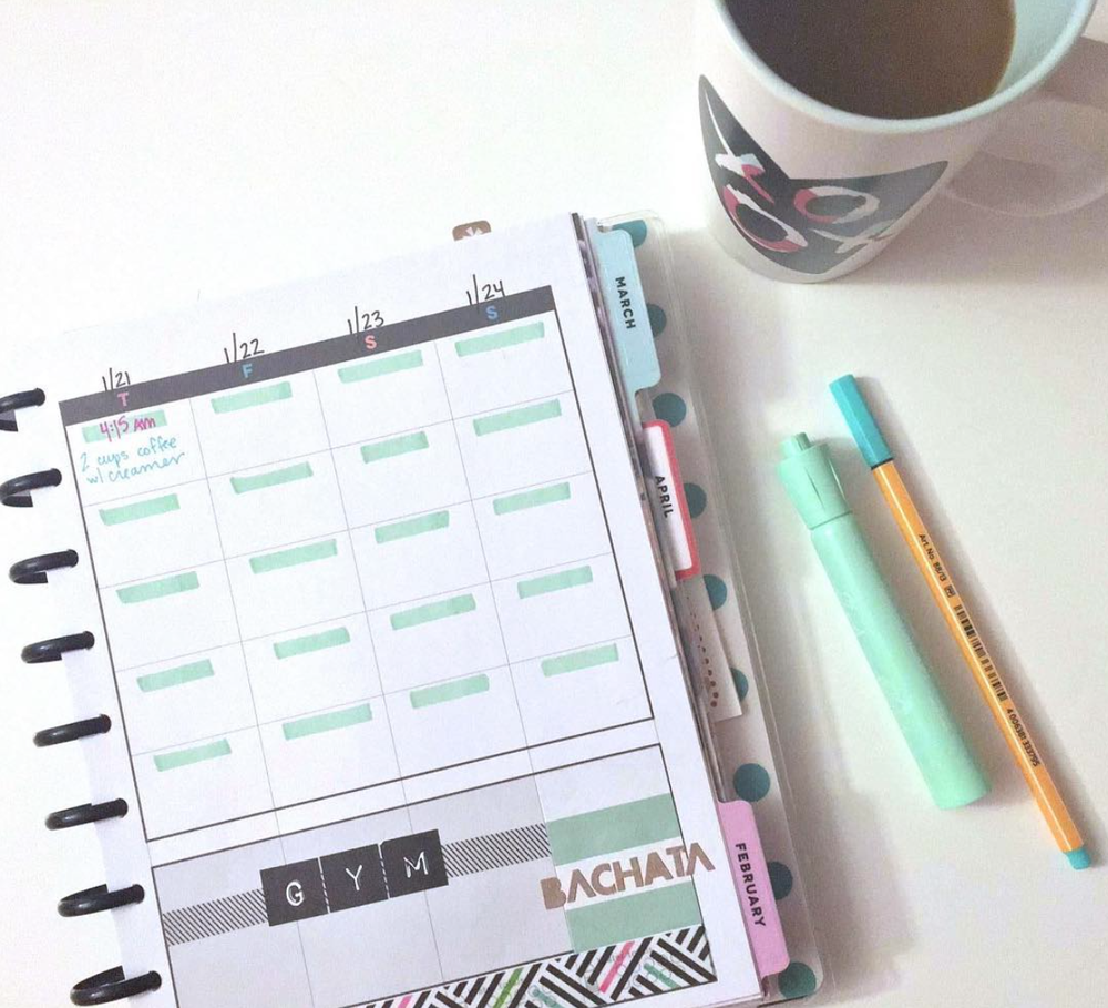 finding a rhythm w/ The Happy Planner™ Fitness Planner of mambi Social Media Coordinator Amanda Rose Zampelli | me & my BIG ideas