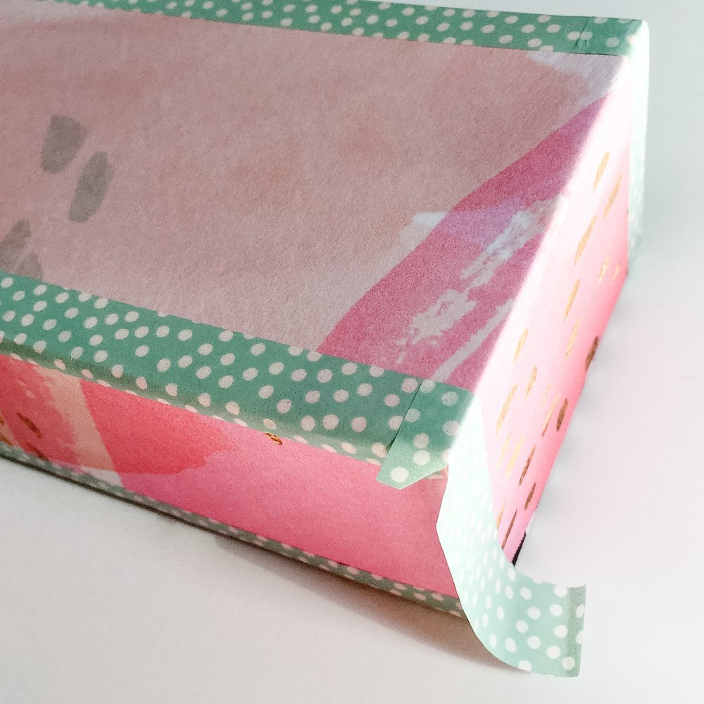 DIY upcycled BOX from The Happy Planner™ DELUXE COVER using Pre-Pasted mambiSHEETS by mambi Design Team member Liz Nielson | me & my BIG ideas
