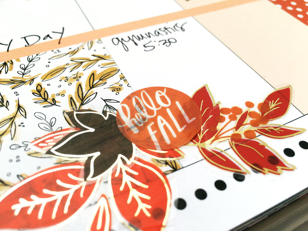 celebrating Fall w/ our 'Seasonal' stickers in The Happy Planner™ of mambi Design Team member Stephanie Howell | me & my BIG ideas
