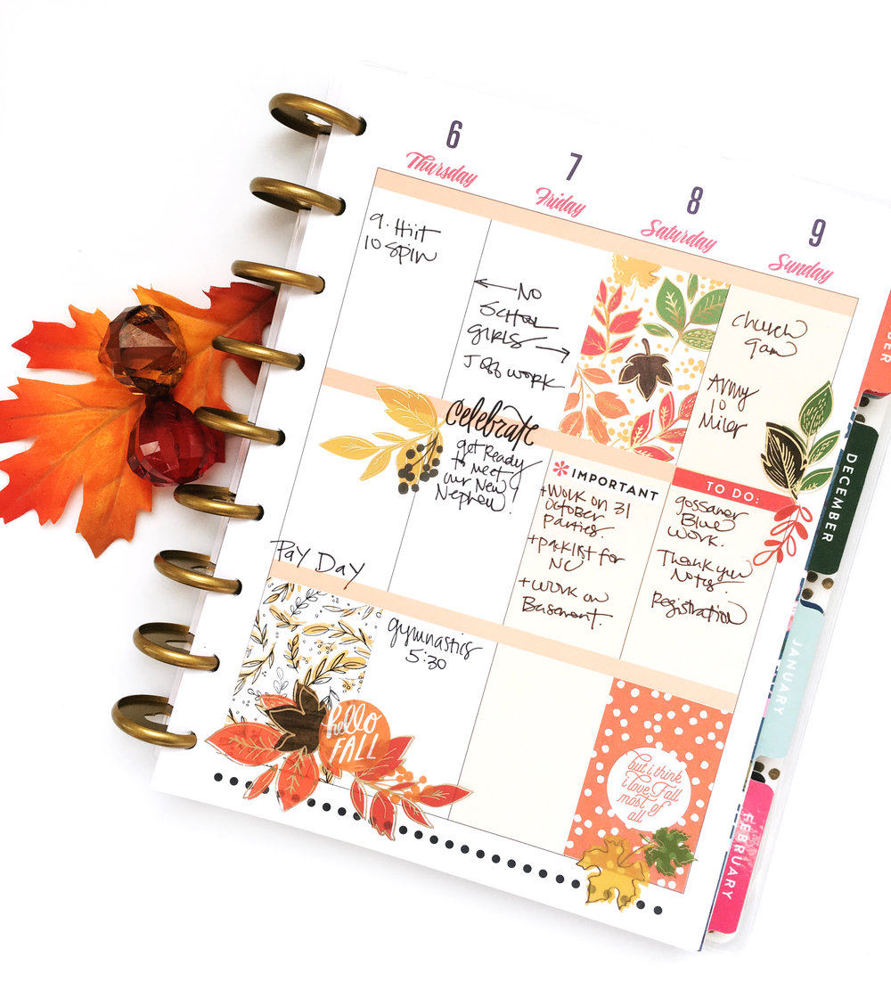Celebrating fall w our 39 seasonal 39 stickers me my big for Planner decorating blogs