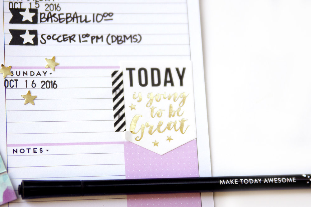 an October week in the undated MINI Happy Planner™ of mambi Design Team member Jennie McGarvey | me & my BIG ideas
