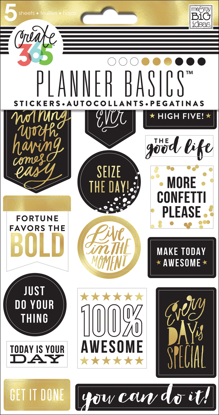 'Black & Gold' Planner Basics™ stickers for The Happy Planner™ | me & my BIG ideas.jpg