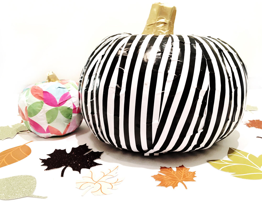 DIY Fall pumpkins using mambiSHEETS by mambi Design Team member Erica Canant | me & my BIG ideas