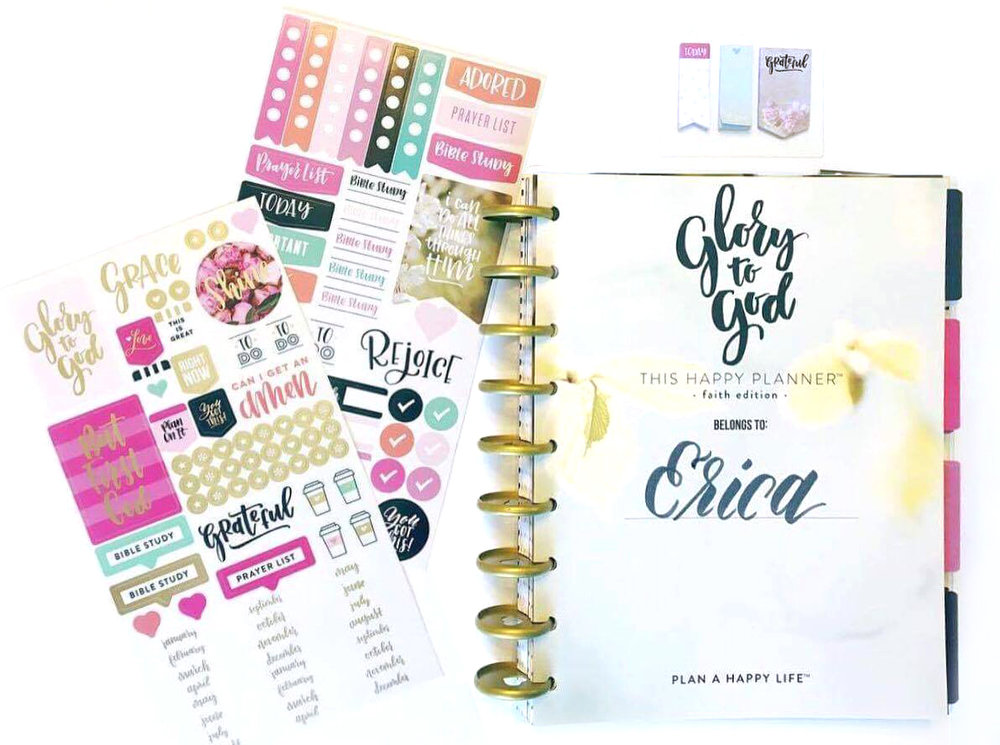 using the Faith-based Happy Planner™ for work by mambi Design Team member Erica Canant | me & my BIG ideas