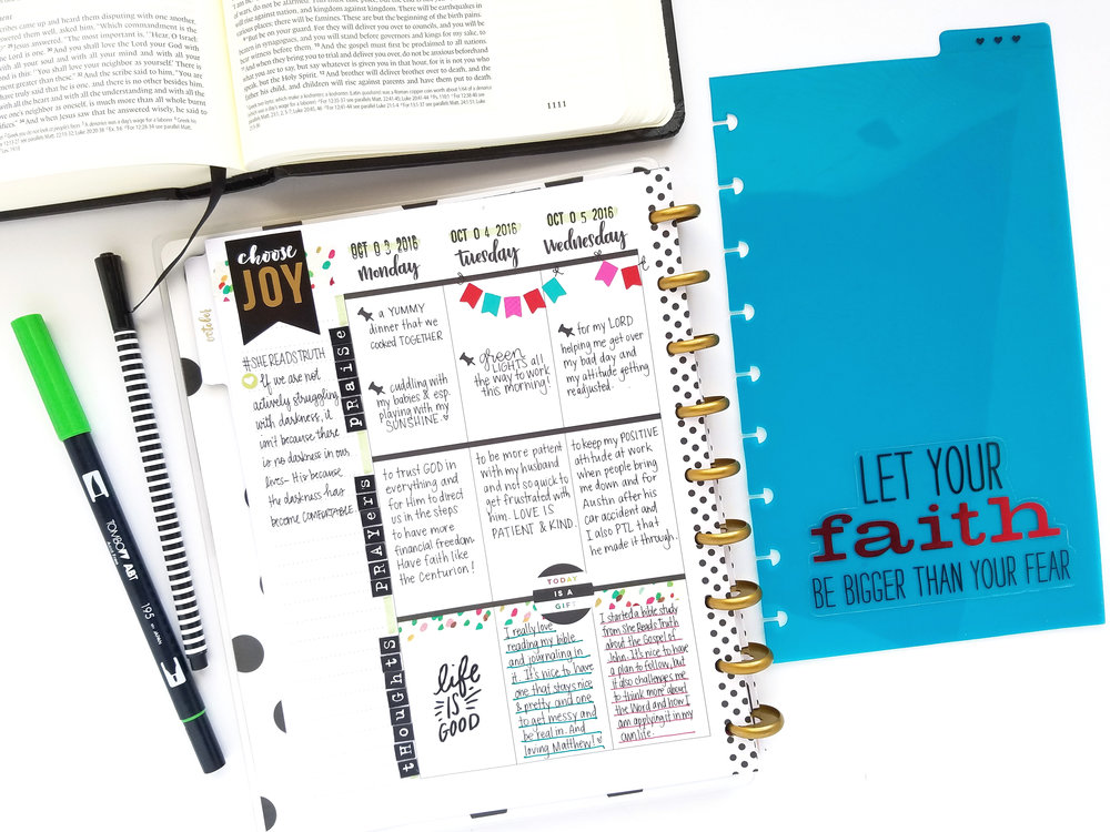 the FULL & LOVED Faith Happy Planner™ of mambi Design Team member Michelle Weissert | me & my BIG ideas