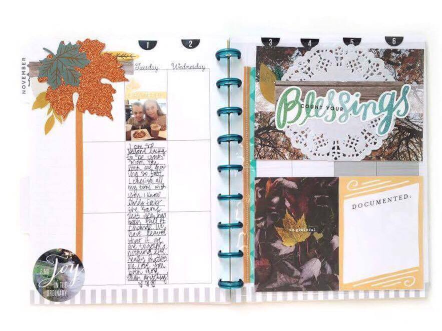 a Gratitude Journal with extra Happy Planner™ pages by mambi Design Team member Jen Randall | me & my BIG ideas