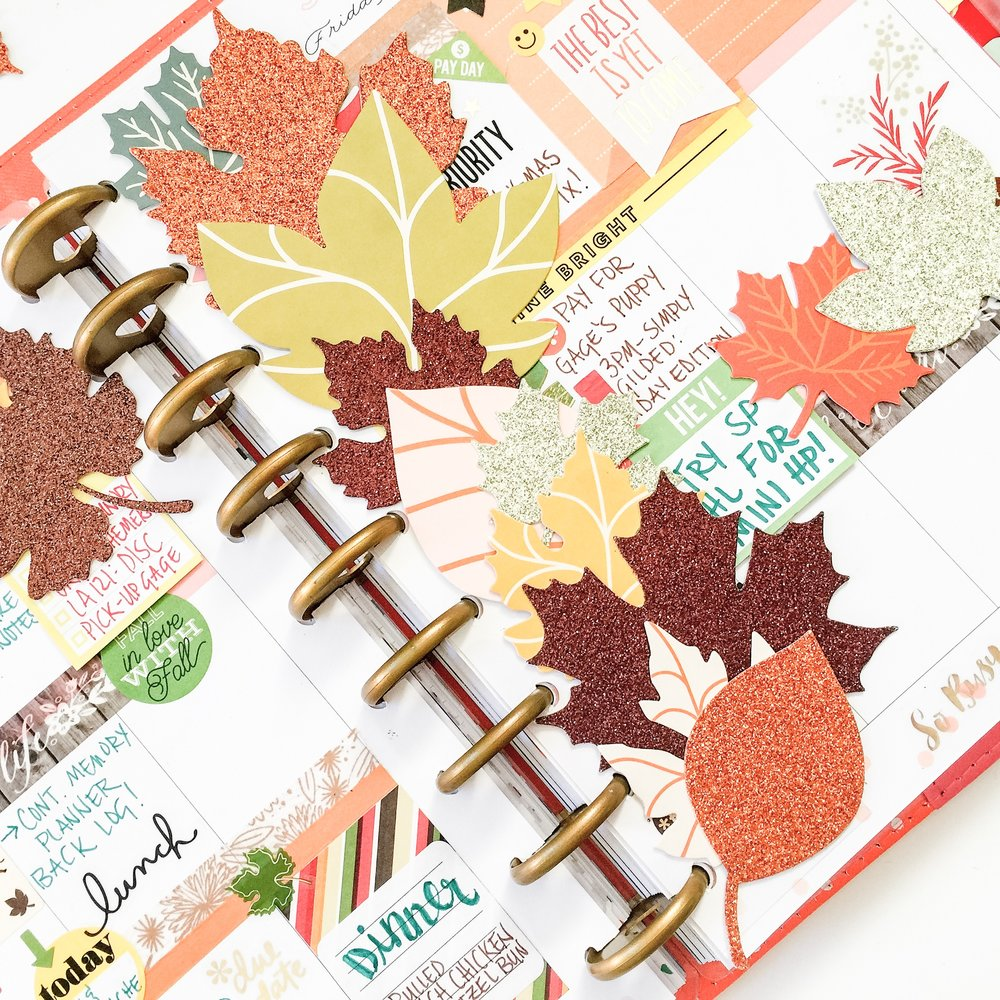 die cut Fall Leaf bookmark for The Happy Planner™ by mambi Design Team member Liz Nielson | me & my BIG ideas