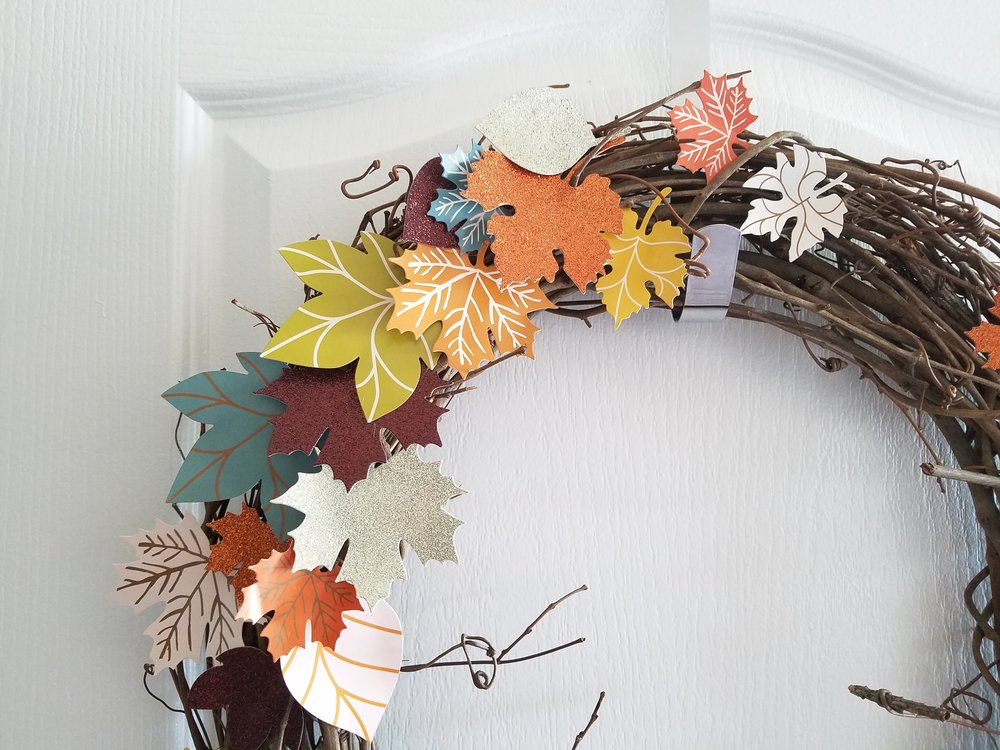November home decor w/ mambi 'Fall Leaves' die cuts by mambi Design Team members Mariel Reyes & Michelle Weissert | me & my BIG ideas