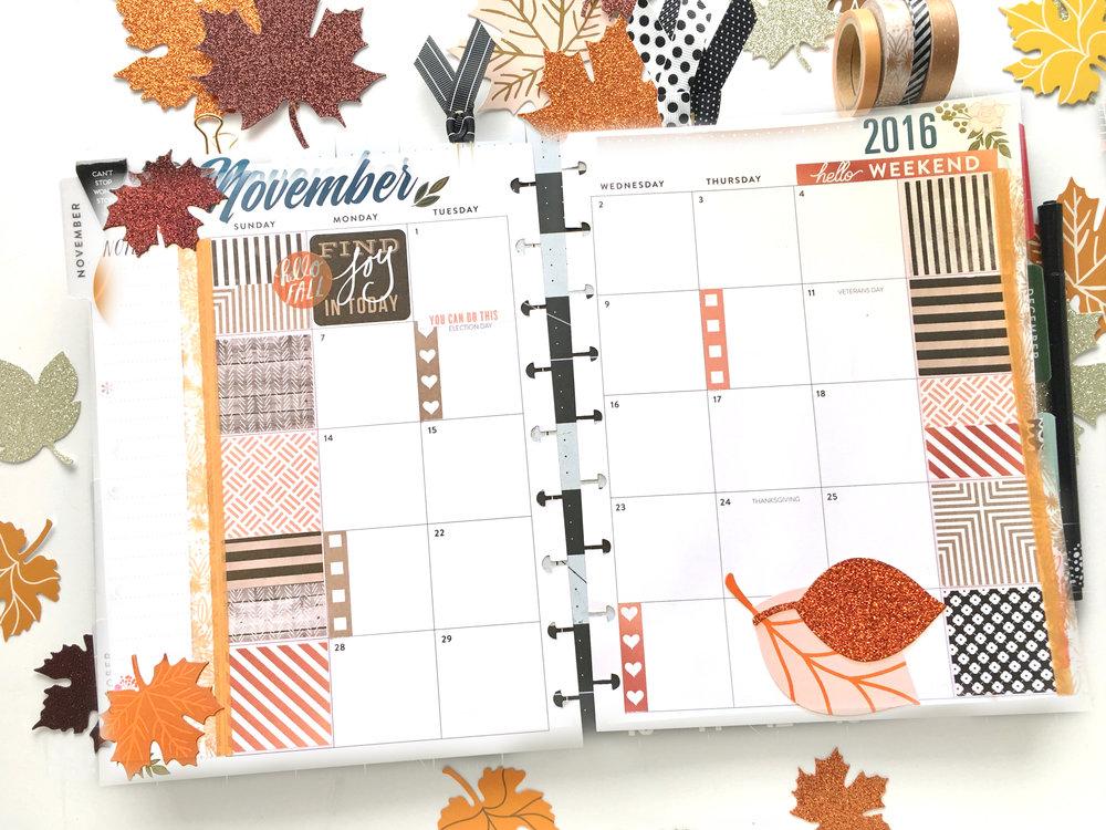 november monthly layout in the  u0026 39 botanical garden u0026 39  happy