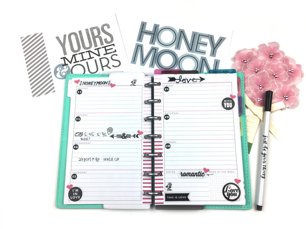 honeymoon travel planning in The MINI Happy Planner™ of mambi Design Team member Chantal Stevens | me & my BIG ideas
