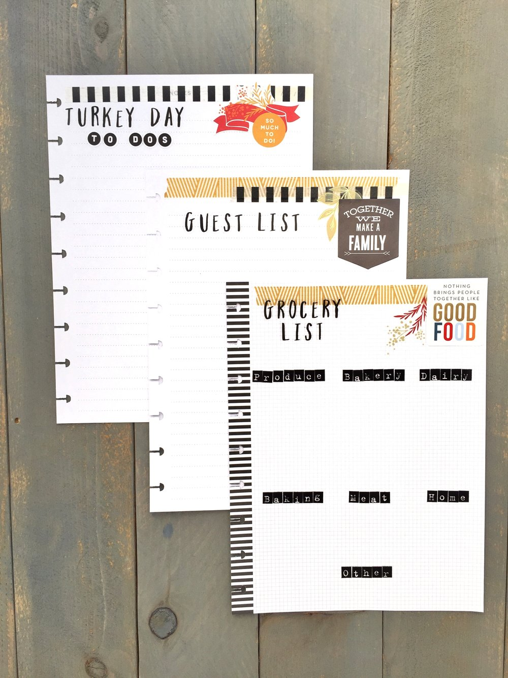 Thanksgiving planning pages for The Happy Planner™ by mambi Deisgn Team member Megan McKenna | me & my BIG ideas