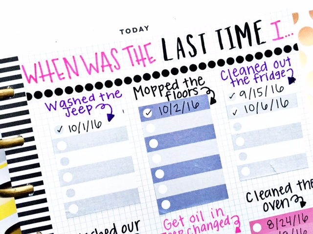 DIY Cleaning Chart in The Happy Planner™ of mambi Design Team member Heather Kell | me & my BIG ideas