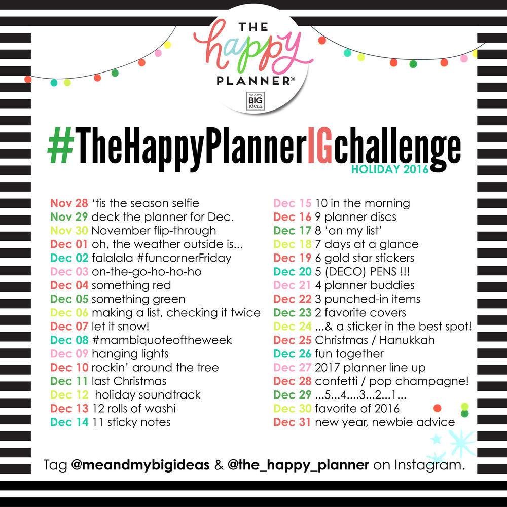 #TheHappyPlannerIGchallenge holiday 2016 | me & my BIG ideas