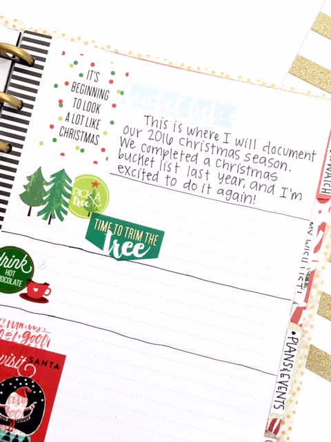 DIY December Bucket List by mambi Design Team member Heather Kell | me & my BIG ideas