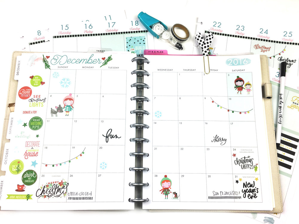 #beforethepen Decmber prep in the BIG Happy Planner of mambi Design Team member Chantal Kauaea | me & my bIG ideas