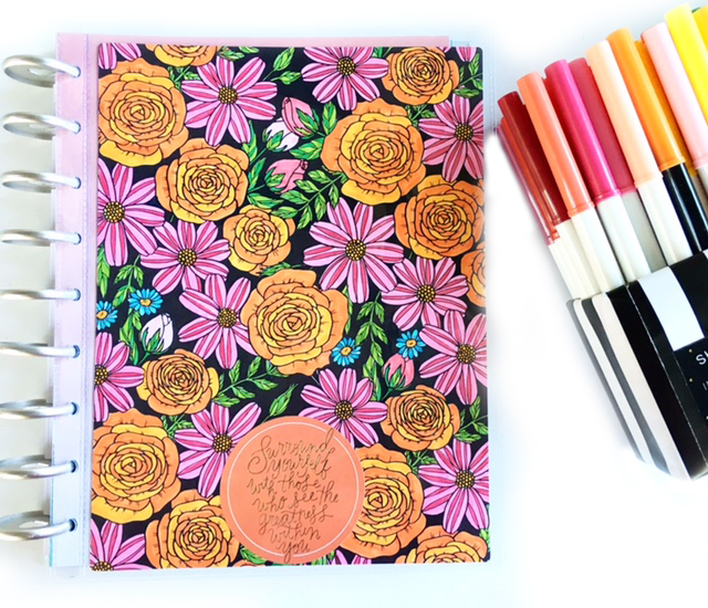 CLASSIC 'Color Your World' Happy Planner™ of mambi Design Team member Heather Kell | me & my BIG ideas