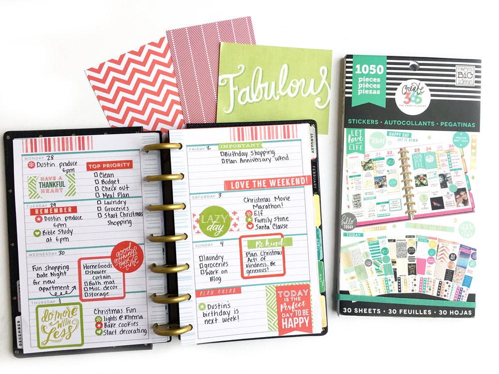 Doing More with Less in the MINI Happy Planner™ of mambi Design Team member KATIE BARTON | me & my BIG ideas