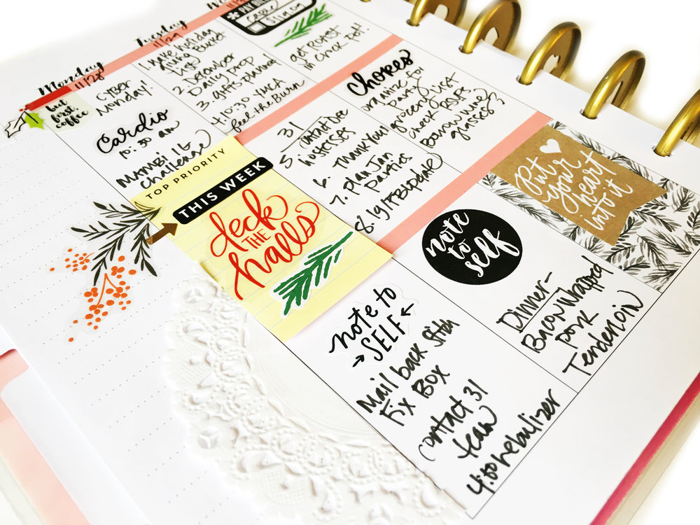 two FAB examples of fully functional Happy Planning™ in The Happy Planner™ of mambi Design Team member Stephanie Howell | me & my BIG ideas
