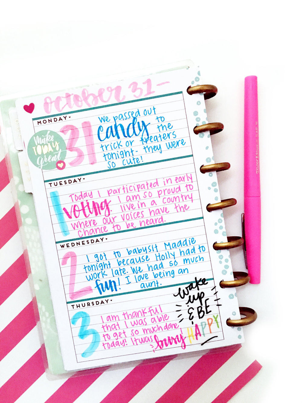 mini Happy Planner™ gratitude/happiness journal by mambi Design Team member Heather Kell | me & my BIG ideas