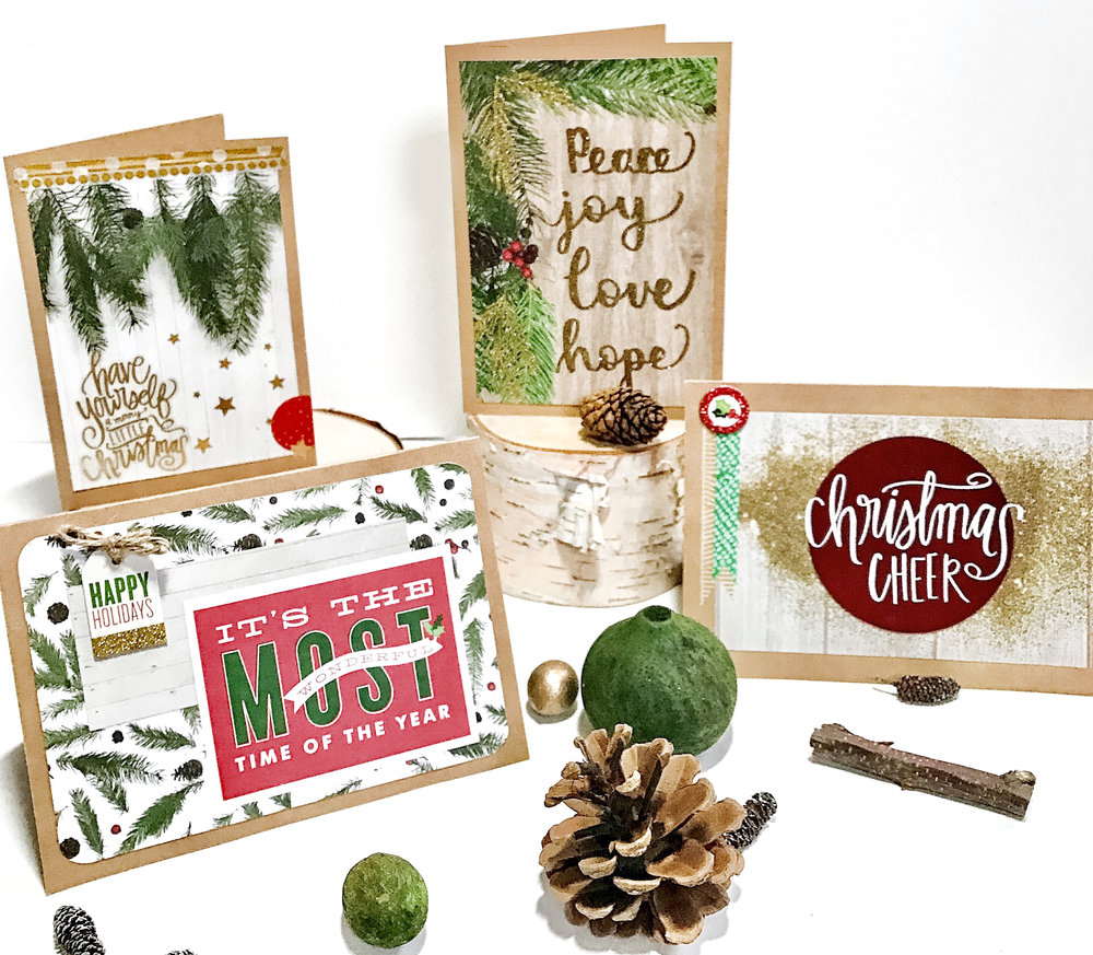 DIY Christmas cards using holiday-themed mambiSHEETS by mambi Design Team member Liz Nielson | me & my BIG ideas