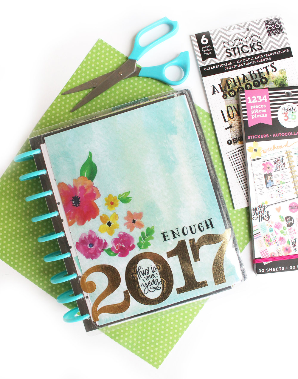 Diy 2017 vision board w the happy planner custom cover for Planner decorating blogs