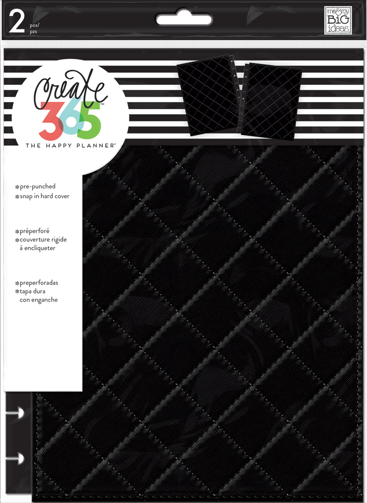 'Quilted Black' CLASSIC Snap-In Cover for The Happy Planner® | me & my BIG ideas.jpg