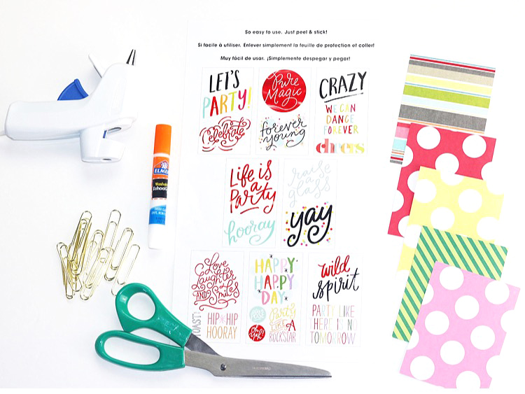 DIY Happy Planner® PAPERCLIPS using the back of the BIG sticker packaging by mambi Design Team member Nita Patterson | me & my BIG ideas