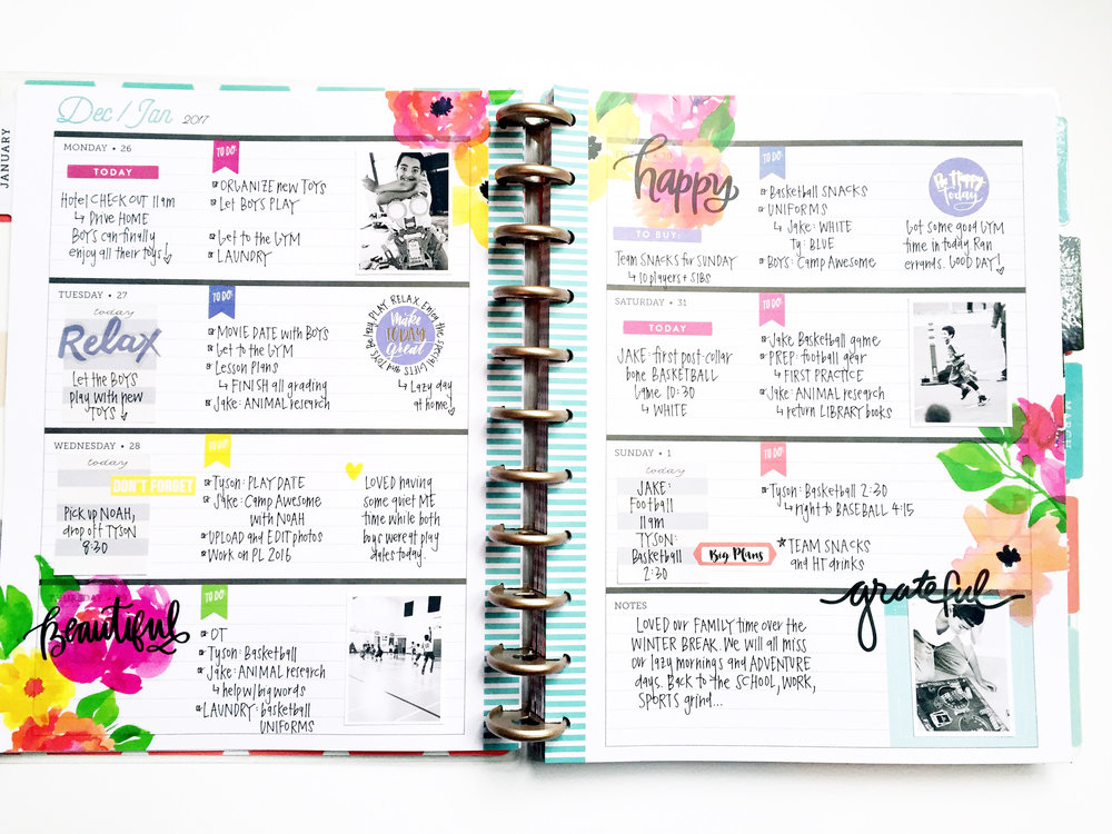 Jumping in the big 39 delightful 39 rose gold horizontal happy for Happy planner ideas