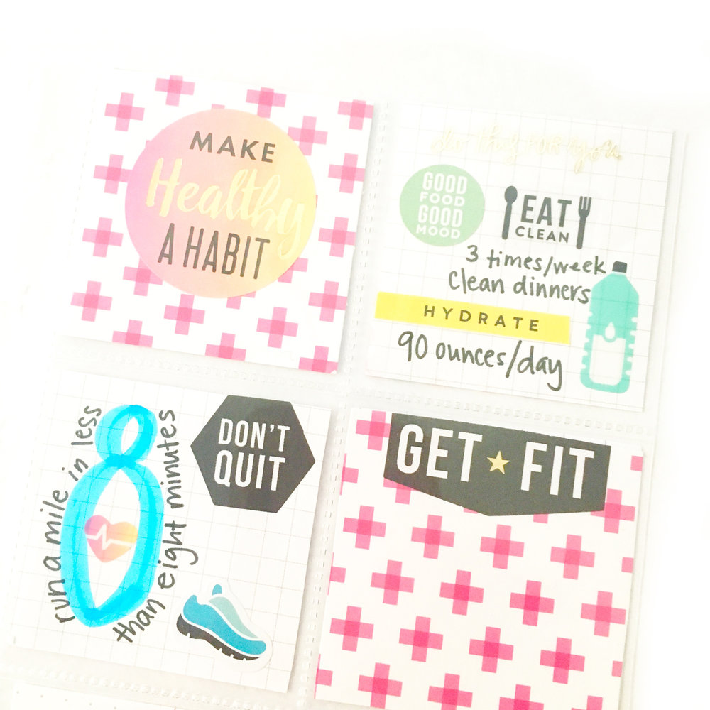 2017 fitness goals dashboard w/ trimmed down happy planner® page