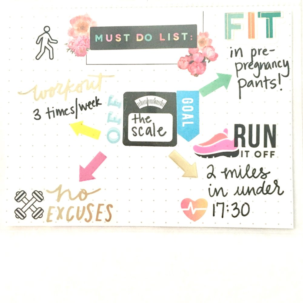 2017 Fitness Goals dashboard w/ trimmed down Happy Planner® Page Protectors by mambi Design Team member Gretchen Klobucar | me & my BIG ideas
