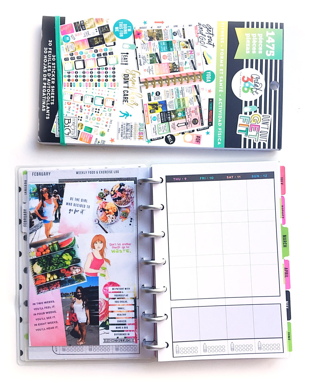 DIY Custom Cover for the MINI Happy Planner® Fitness Planner by mambi Design Team member Marisa Yciano | me & my BIG ideas