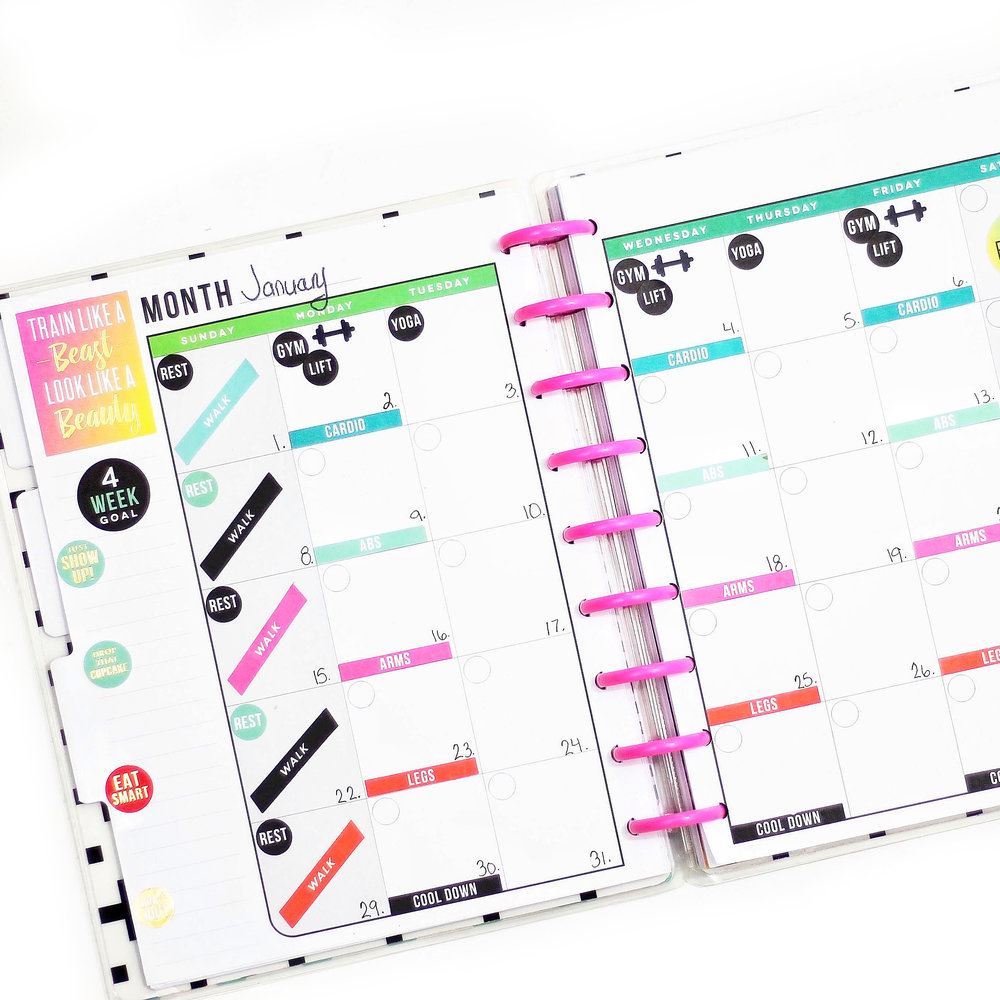 using the CLASSIC and MINI Happy Planner® Fitness Planners by mambi Design Team member Nicole Patterson | me & my BIG ideas