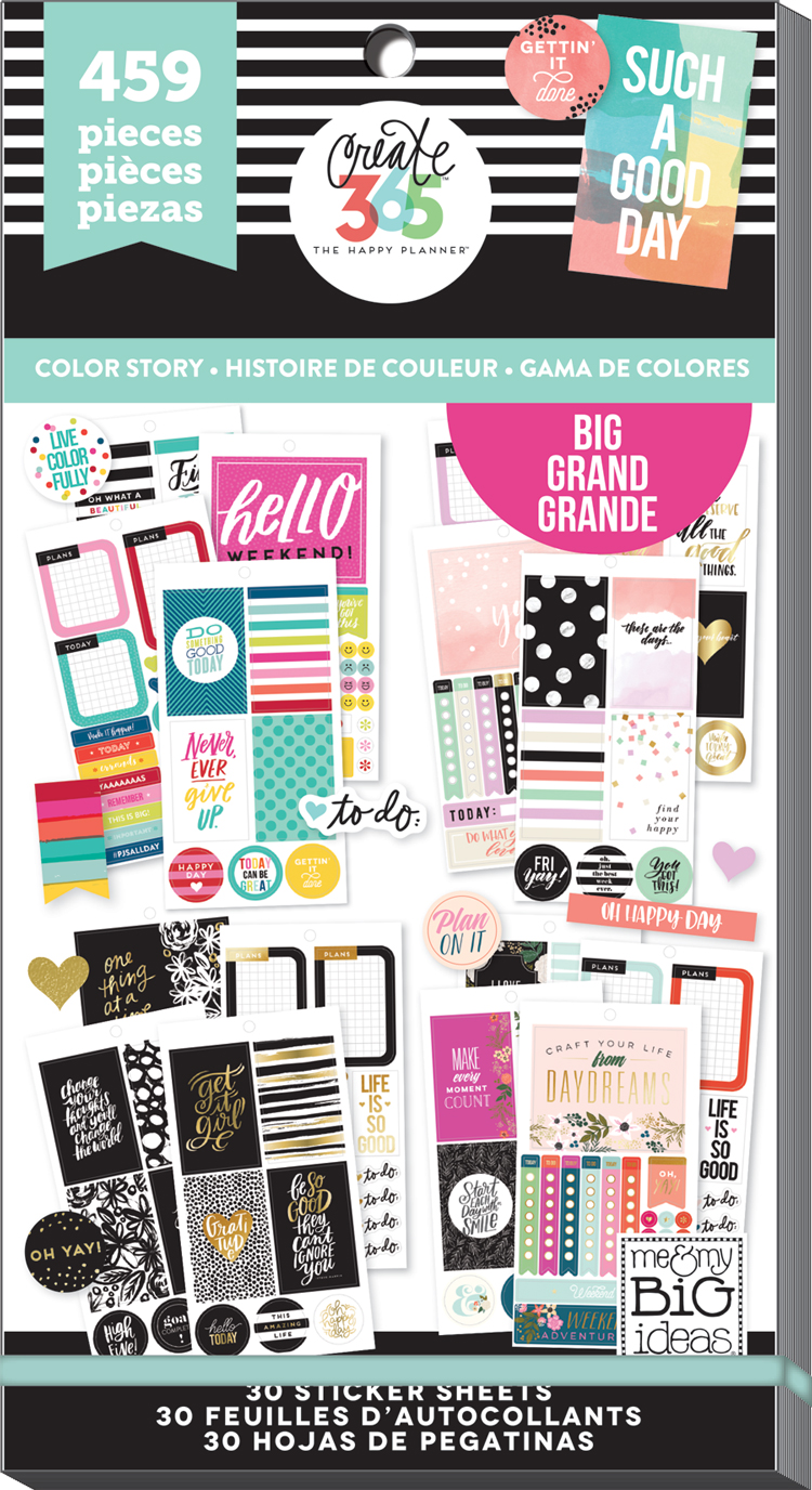 'Color Story' sticker value pack for the BIG Happy Planner® | me & my BIG ideas