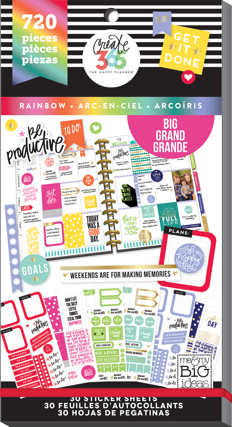 'Rainbow' Happy Planner® stickers for the BIG Happy Planner® | me & my BIG ideas