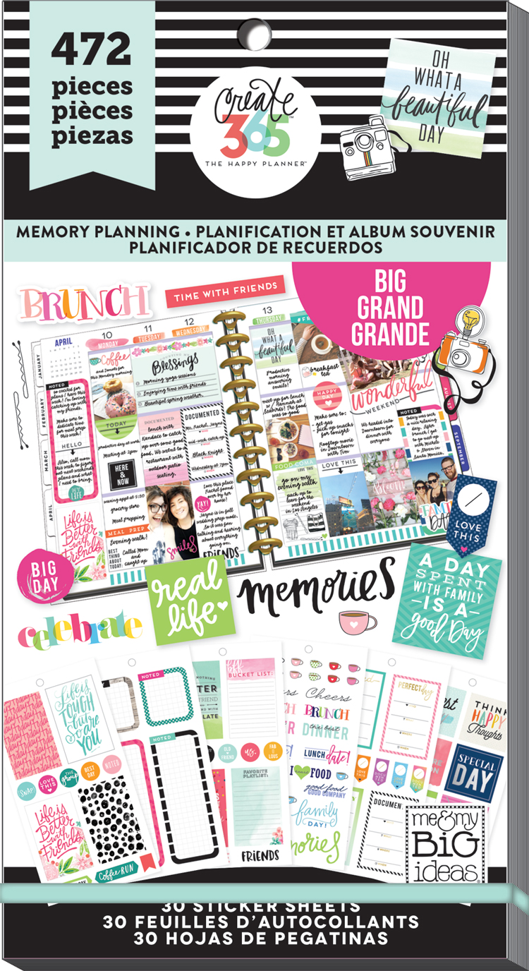'Memory Planner' sticker value pack for the BIG Happy Planner® | me & my BIG ideas