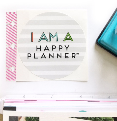 using The Happy Planner® PUNCH & Snap-In Tabs to add in memory keeping items by mambi Design Team member Thuy Bui | me & my BIG ideas