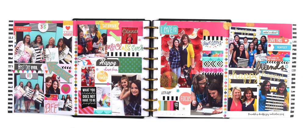 Frankenplanner Flip-Out pages in the CLASSIC Happy Planner® of mambi Design Team member Mariel Reyes | me & my BIG ideas