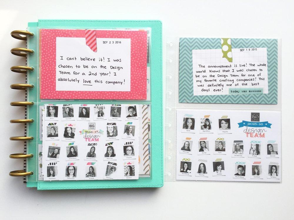 Constructing A Design Team Scrapbook Album Using The Happy Planner