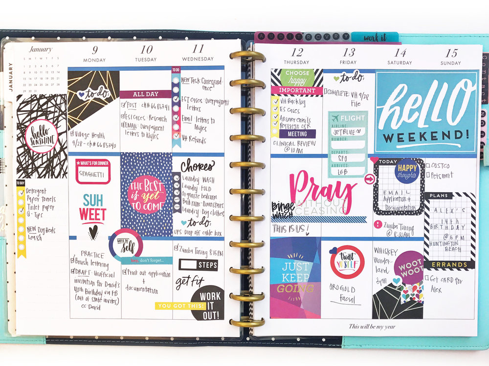 Using the big 39 make things happen 39 happy planner for 2017 for Happy planner ideas