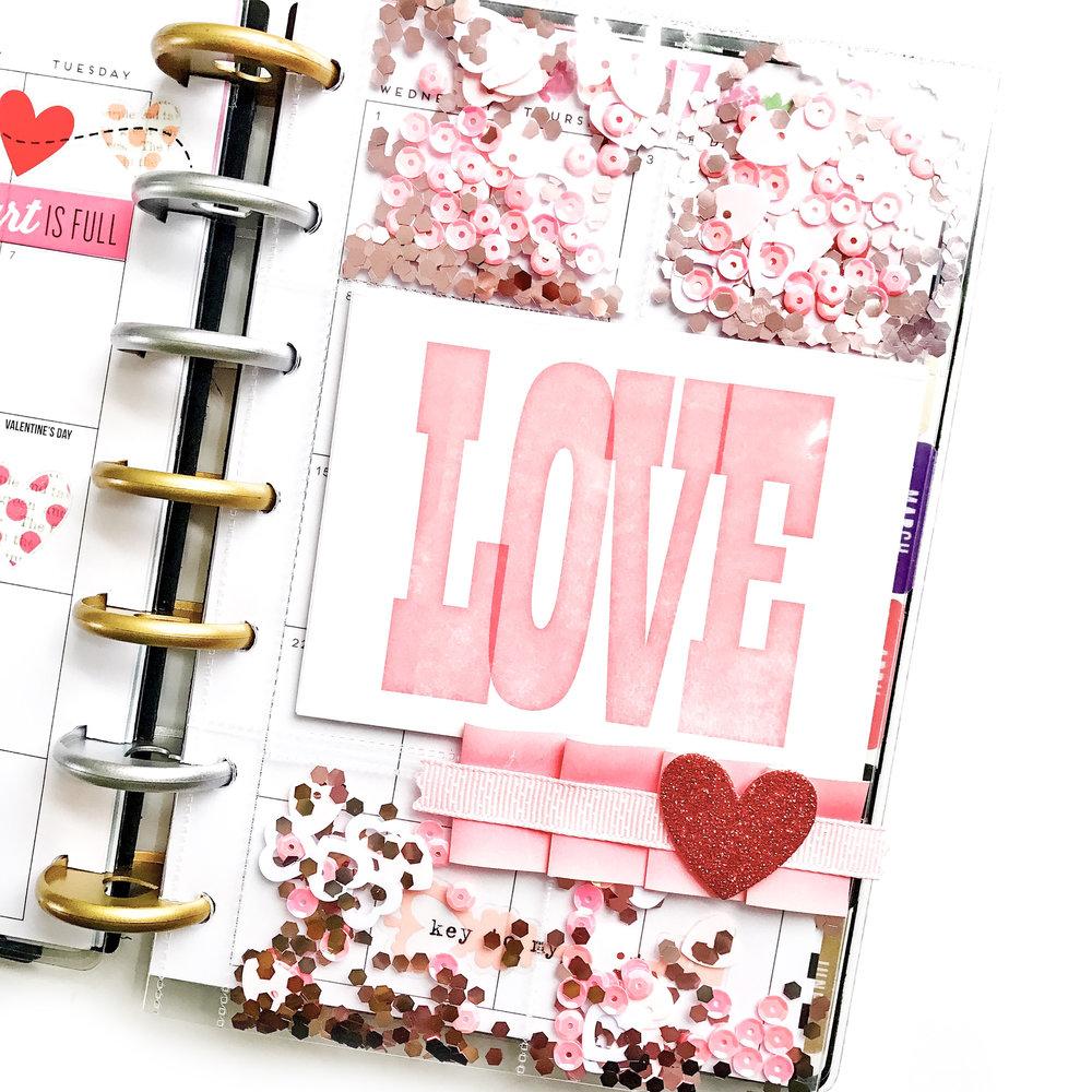 valentine s shaker pocket for the mini happy planner me my big